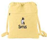 Boston Terrier Cinch Bag Font shown on bag is HOBO
