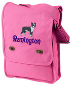 Boston Terrier Field Bag Font shown on bag is INSCRIPTION