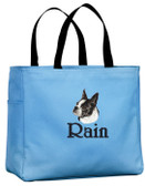Boston Terrier Tote Font shown on bag is INSCRIPTION