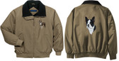 Boston Terrier Jacket Back and Front Left Chest