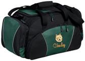 Norwich Terrier Duffel Bag Font shown on bag is MASALA