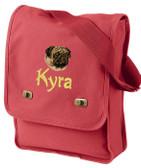 Pug Field Bag Font shown on bag is SPLASH