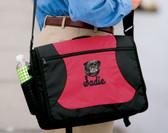 Pug Bag Font shown on bag is MESSENGER SCRIPT