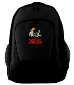 Border Collie Backpack Font shown on bag is ALLEGRA