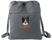Border Collie Bag Font shown on bag is ALPINE