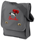 Border Collie Field Bag Font shown on bag is AMELIE