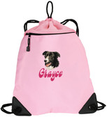 Border Collie Bag Font shown on bag is BELLBOTTOMS