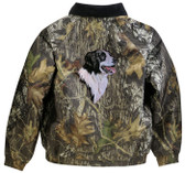Border Collie Jacket Back