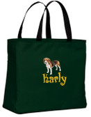 Beagle Tote Font shown on bag is BOING