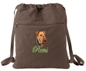 Airedale Terrier Bag Font shown on bag is EDWARD SCRIPT
