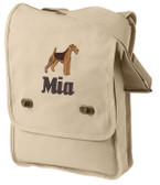 Airedale Terrier Bag Font shown on bag is EDWARD