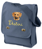 Rhodesian Ridgeback Bag Font shown on bag is AMELIE