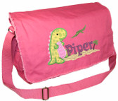 Personalized Walking Dinosaur Applique Diaper Bag