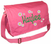 Personalized DAISIES Diaper Bag Font shown on diaper bag is APPLE BUTTER