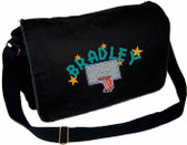 Personalized Basketball Diaper Bag Font shown on diaper bag is SUMMER CAMP