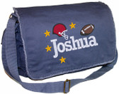 Personalized Football Diaper Bag Font shown on diaper bag is ROCKWELD