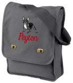 French Bulldog Bag Font shown on bag is CIN ITALIC