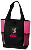 French Bulldog Tote Font shown on bag is COMMERCIAL SCRIPT