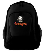 Bearded Collie Backpack Font shown on bag is INSCRIPTION