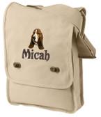 Basset Hound Bag Font shown on bag is MASALA