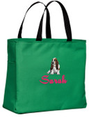 Basset Hound Tote Font shown on bag is MONTREAL