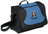 Basset Hound Computer Bag Font shown on bag is POOR RICHARD