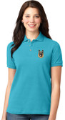German Shepherd Ladies Golf Shirt