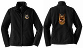 German Shepherd Embroidered Jacket Front & Back