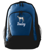Appaloosa Backpack Font shown on bag is JET SCRIPT