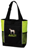 Appaloosa Tote Bag Font shown on bag is GROOVY