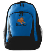 Dogue De Bordeaux Backpack Font shown on bag is KINDERGARTEN