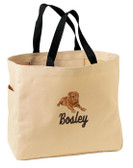 Dogue De Bordeaux Tote Font shown on bag is JET SCRIPT