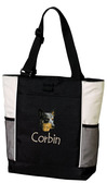 Australian Cattle Dog Tote Font shown on bag is JOKERS WILD