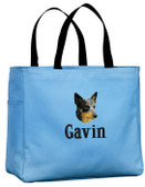 Australian Cattle Dog Tote Font shown on bag is KANTORE