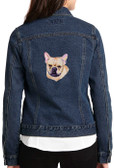 French Bulldog Denim Jacket Back
