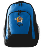 Collie Backpack Font shown on bag is SPLASH