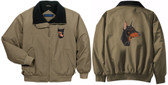 Doberman Jacket Back & Front Left Chest