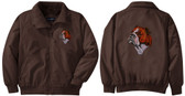 Bulldog Jacket Back and Front Left Chest