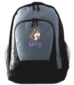 Alaskan Malamute Backpack Font shown on bag is SPLASH