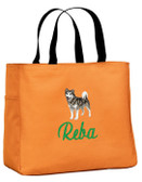 Alaskan Malamute Tote Font shown on tote is SCRIPT 1
