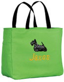 Scottish Terrier Tote Font shown on tote is STONE AGE