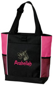 Scottish Terrier Tote Font shown on bag is SPLASH
