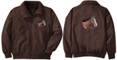 Quarter Horse Jacket Back & Front Left Chest
