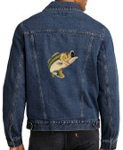 Bass Fishing Denim Jacket Back