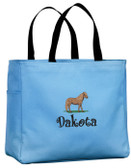Miniature Horse Tote Font shown on tote is BOING