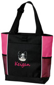 Papillon Tote Font shown on bag is Seagull Script