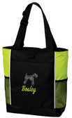 Kerry Blue Terrier Tote Font shown on tote is Jet Script