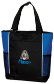 Petit Basset Griffon Vendeen Tote Font shown on tote is Masala