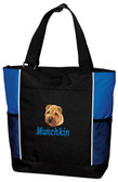 Chinese Shar Pei Tote Font shown on bag is BOOKWORM