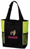 Silky Terrier Tote Font shown on bag is Belvedere